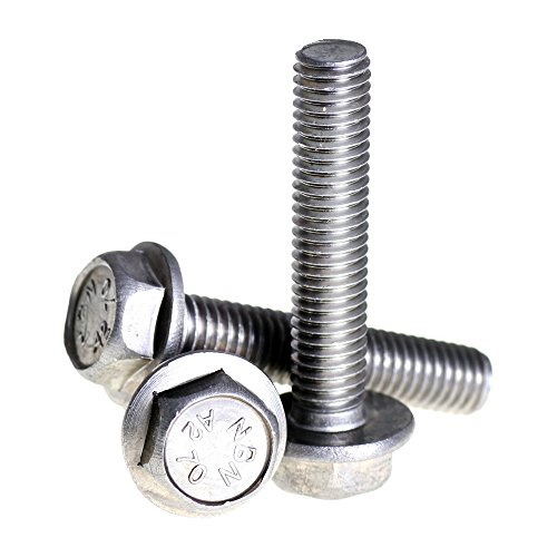 A2 Stainless Steel Flanged Hex Head Bolts Flange Hexagon Screws DIN 6921 M10 x 25-10 Pack