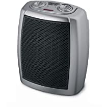 DeLonghi DCH1030 Safeheat 1500W Basic Ceramic Heater - Gray/Black