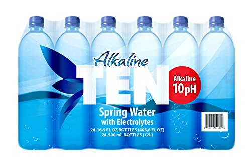 Price comparison product image TEN Alkaline Spring Water,  pH 10,  High in Electrolytes,  16.9 Ounce Bottle (Pack of 24)