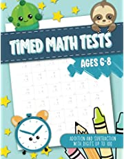 Timed Math Tests - Addition and Subtraction with Digits up to 100 - Ages 6-8