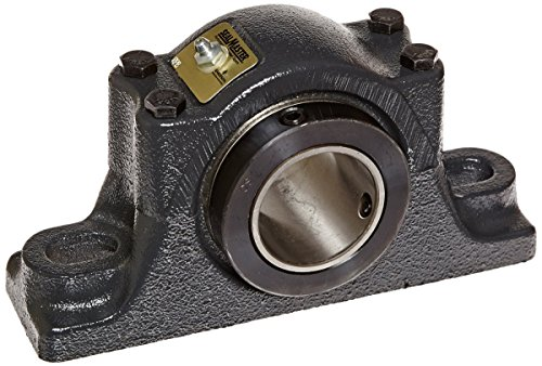 """Sealmaster RPB 108-2 Pillow Block Tapered Roller Bearing, Non-Expansion Type, Heavy-Duty, Regreasable, Double Set-Screw Collar, Felt Seals, Cast Iron Housing, 1-1/2"""" Bore, 2-1/8"""" Base to Center Height, 6"""" Bolt Hole Spacing Width, ±3 degrees Misalignment Angle from Sealmaster"""
