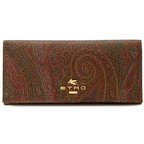ETRO(エトロ) PVCコーティングレザー 二つ折り長財布