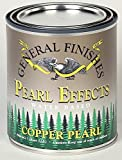 General Finishes PEOP Pearl Effects House Paint, 1 pint, Copper Pearl