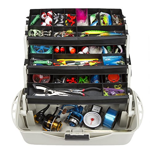 Wakeman Outdoors Fishing Tackle Box Craft Tool Chest and Art Supply Organizer – 18 Inch