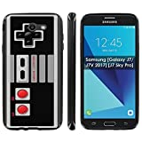 Cheap Samsung [Galaxy J7/J7V 2017] [J7 Sky Pro] Soft Mold [Mobiflare] [Black] Thin Gel Protect Cover – [NES Video Game Controller] for Galaxy J7 [2017] [5.5″ Screen]