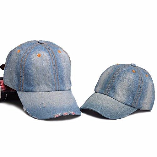 Baseball Cap Set (Pack of 2, Baseball Cap Father and Son Hats Peaked Set Denim Jean Cowboy)