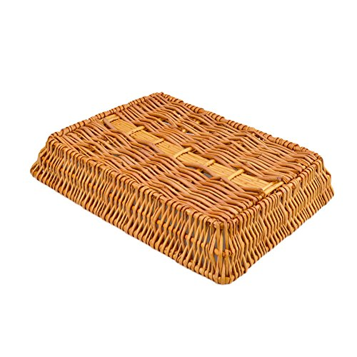 Rurality Rectangular Wicker Storage Basket for Home, Shops or Markets by Rurality (Image #2)
