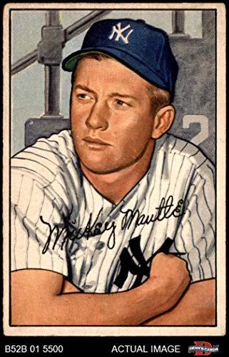 1952 Bowman # 101 Mickey Mantle New York Yankees (Baseball Card) Dean's Cards 3 - VG Yankees