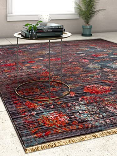 Artemis Brown Modern Vintage Floral Traditional Area Rug 5 x 8 5 3 x 7 7 Antique Weathered Oriental Multicolor Pattern
