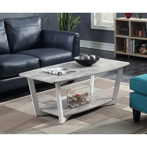 Convenience Concepts 111282GYWF Graystone Coffee Table Stone