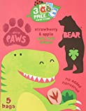 Bear Dino Paws Strawberry & Apple Pure Fruit Shapes, 5 x 20g Packs