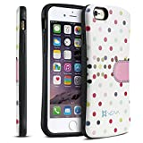 iPhone 6 Plus / 6S Plus Case - VENA [ARCH] Polka Dot Hybrid Case Hard Shell Cover for Apple iPhone 6 Plus / 6S Plus (5.5') - White/Pink