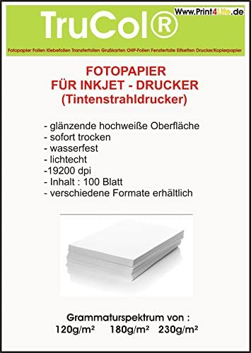 500 Blatt glänzendes Fotopapier 10x15 230g/m² Grußkarten Fotokarten