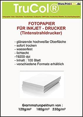 Print4Life - Papel de fotografía para impresora de inyección (120 g, 180 g, 220 g)
