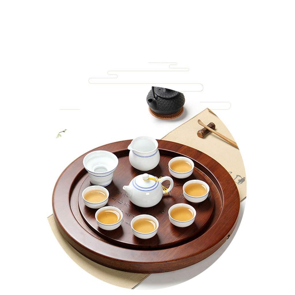 Tea Tray Tea Table Solid Wood Heavy Bamboo Tray Home Living Room Drainage Tea Table Whole Tea Set (Color : 45454.5CM) by GQQ (Image #9)