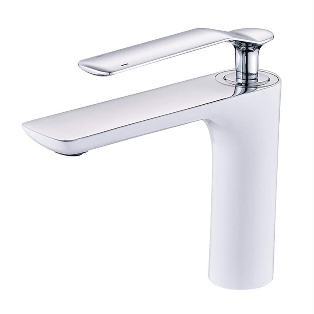 JBP Max Wasserhahn Badezimmer Beckenwasser Hahn Waschbecken Waschen Heiße Und Kalte Wasserhahn Farbe Glatt Und Leicht Zu Reinigen-3