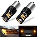 Viesyled 1156 2057 2357 7528 BAY15D LED Brake Lights Bulb Yellow 9-30V Replacement Back Up Reverse Bulbs Super Bright 6000K Pack of 2, 1 Year Warranty