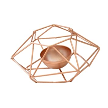 Baoblaze Metal Iron Geometric Candle Holder Candlestick Flowerpot for Home Garden Wedding Decoration 2# Candleholders