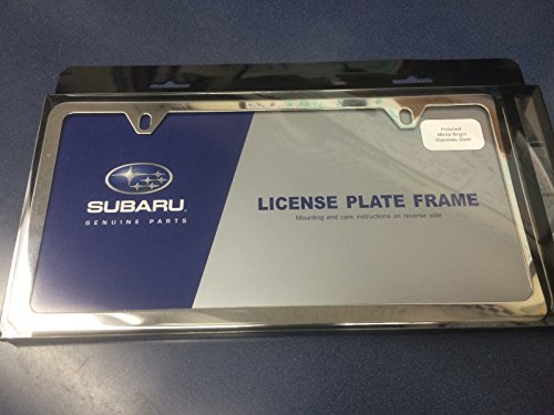 Tribeca Polished Steel (Geniune Subaru Slimline License Plate Frame Polished Stainless Steel OEM NEW SOA342L104)