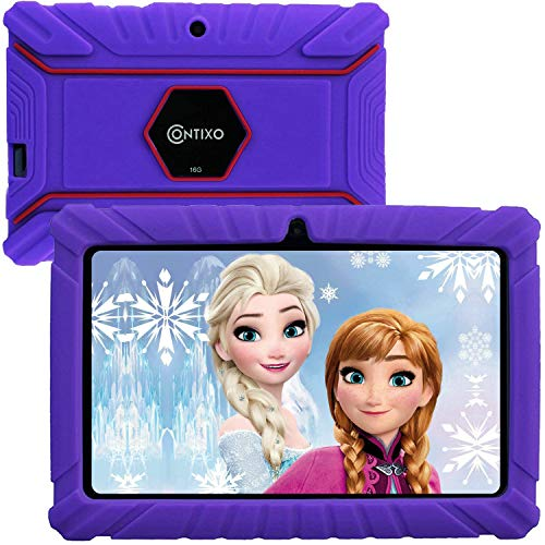 """Contixo V8-2 7"""" Edition Android 16GB Kids Tablet Parental Control 20+ Learning Education Apps on Google Certified Playstore Toy Tablet for Kids, Kids- Proof, WiFi Camera Best Gift (Purple)"""