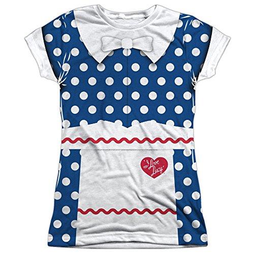 Juniors: I Love Lucy- Polka Dot Costume Tee Juniors (Slim) T-Shirt Size M -
