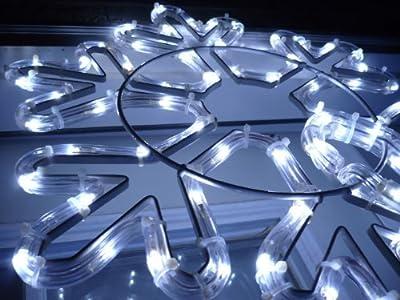 Snowflake. White. Christmas Lights. Christmas Decoration Yard Lights