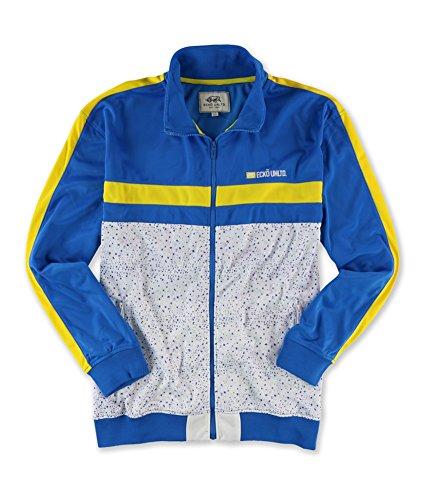 Ecko Unltd. Mens Poly Tricot Track Jacket Blue (Poly Tricot Jacket)