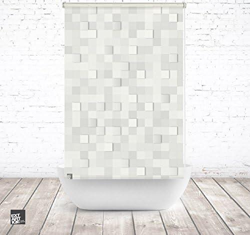 EXTARTIQE extar tiqe Diseño Ducha 100 cm Textil 3D Stones baño ...