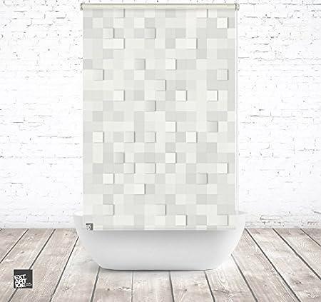 extar tiqe ducha 120 cm textil 3d Stones baño enrollable para ...