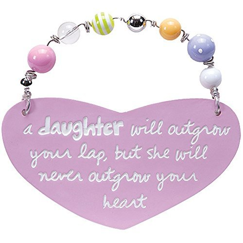Pink Heart Shaped Wishes & Kisses Plaque - A Daughter... ()