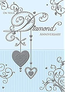 Amazon 60th diamond wedding anniversary greeting card office 60th diamond wedding anniversary milestone congratulations greeting card m4hsunfo