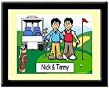 Best Personalized Gifts Buddies Frames - Personalized Golfing Buddies Print in Frame Gift, Golfer Review