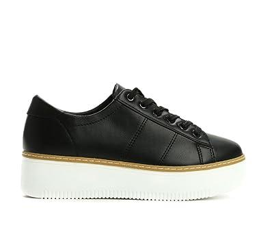 Damen Schuhe Freizeitschuhe designer Low-top Sneakers Schnürer 4159 Schwarz 36