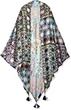 LAUNDRY BY SHELLI SEGAL Women's Tribal Triangle Scarf Wrap, Pink Gin, One Size