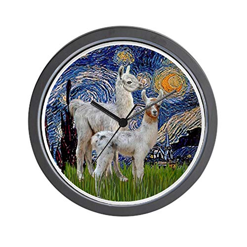 CafePress Starry Night with Two Baby Llamas Unique Decorative 10