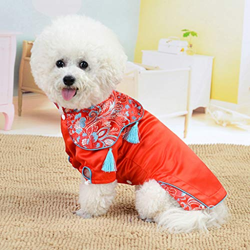 Beyonds 2019 Dog Costumes Cheongsam Qipao Dresses for Small Dogs Pet Tang Dynasty Costume for Cat Miniature Pinscher