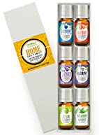 Essential Oil Set - Home & Family Set 100% Pure, Best Therapeutic Grade Essential Oil Kit - 6/10mL (Calm Body/Calm Mind, French Lavender, Grapefruit, Harmony, Key Lime, and Spearmint)