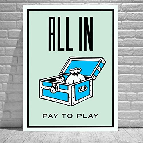 zzjart HD Printed Oil Paintings Home Wall Decor Art On Canvas Alec Monopoly All In 24x32inch (Framed)