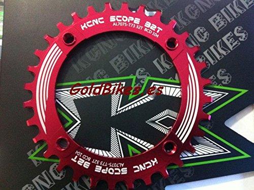 KCNC - Monoplato para 10 Y 11 V 104Bcd Rojo 32D