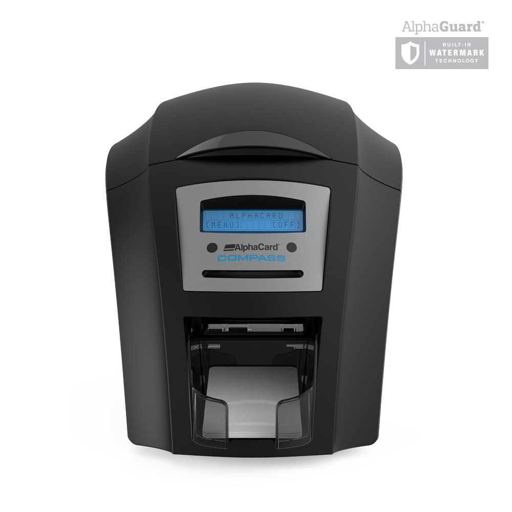 AlphaCard Compass Complete Photo ID Card Printer System with AlphaCard ID Software (Complete Bundle for PCs, One-Sided Printer) by AlphaCard (Image #2)