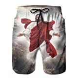 Christian Jesus Christ Save Beach Board Shorts Mens Pants Swim Suit Trunks Sportswear