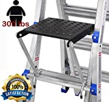 TOPRUNG 16''x15'' Work Platform for Ladders, Heavy Duty Ladder Accessory