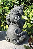 Little Darling Dragon Baby 'Playing Ball' – Solid Cast Stone Garden Statue – a Great Home or Garden Idea – Durable, Lifelike Sculpture – Fun Exterior and Interior Art Review