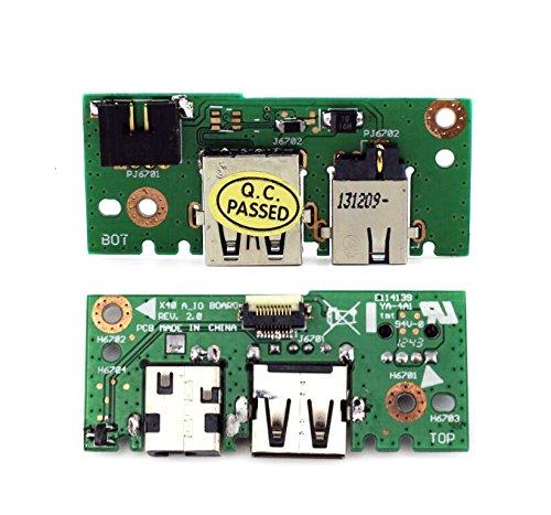 YDLan Delanse New VGA LAN DC Power Jack USB IN Board For ASUS X401 X 401A X301A X301 X 501A X501A-SI30302Q X501A-SI30403X X501A-WH X501A-HPD121H X501A-BSPDN22 X 501A-XX05 60-NLOIO1001-X01 32XJ1IB0010