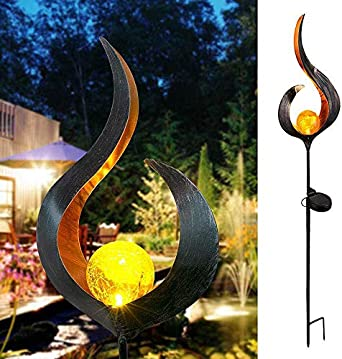 Lámpara solar para jardín con diseño único para exterior, luz solar, estaca, luz LED para jardín, paisaje, luz decorativa, mito: Amazon.es: Iluminación