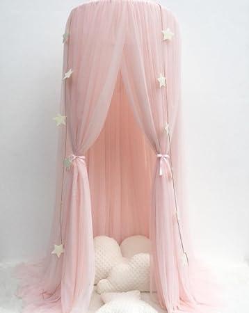Rosa Sterne Kuppel Decke Betthimmel Gericht Spitze Moskitonetz Bett