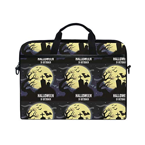 15-15.4-inch Laptop Portable Protection Bags Happy Halloween Poster Banner Vector Image Suitable for Apple -