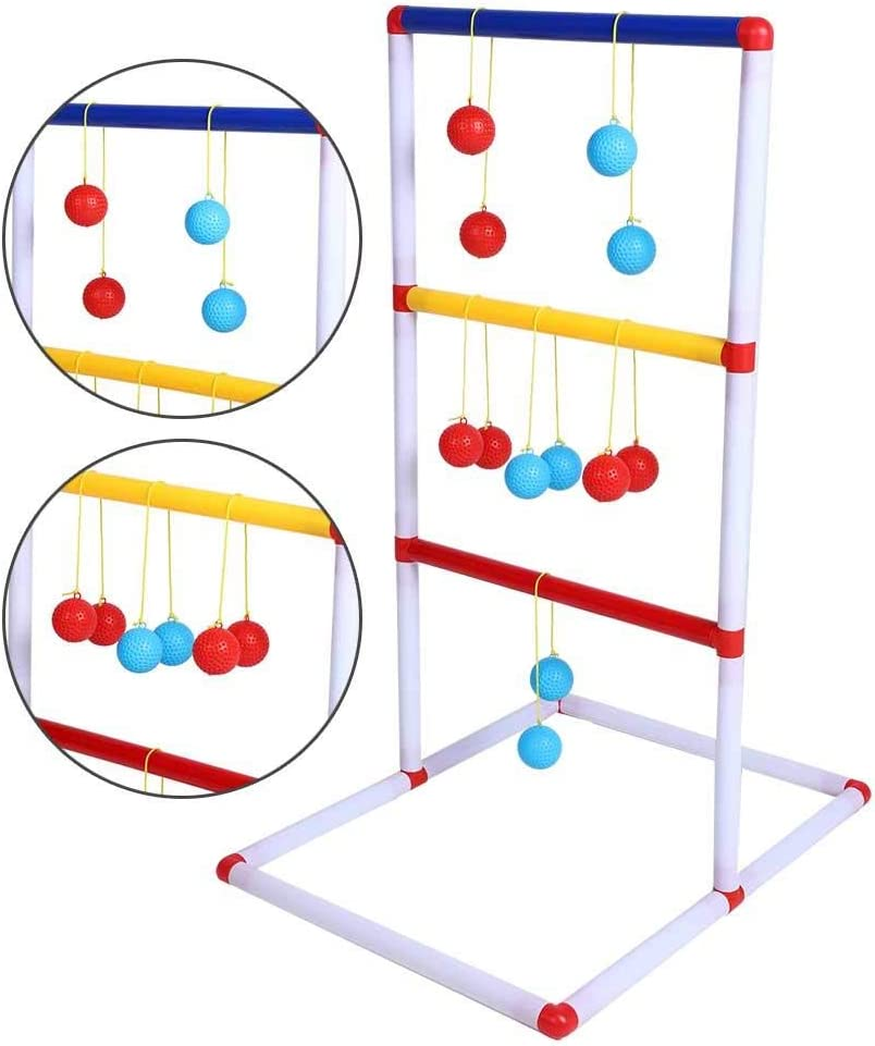 Ladder Toss Game Toy Set with 12pcs Golfs Ball Toys Children Educational Toy Gifts for Children Boys and Girls Ladder Toss Game