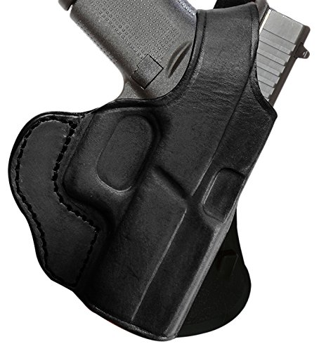 Tagua PD1R-355 Glock 43 - 9mm Black Right Hand Rotating Thumb Break Paddle Holster