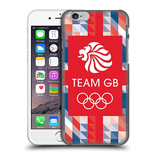 Official Team GB British Olympic Association Union Jack Logo Hard Back Case for Apple iPhone 6 / 6s
